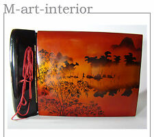 alter Album Fotoalbum Chinalack Holz Lacquer Wood Photo Album Vietnam mid 20th c