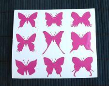 Kit 9 Adesivi Farfalle auto moto scooter decal vynil casco farfalla butterfly