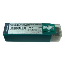 Heller 7mm HSS Cobalt Metal Drill Bits 10 Pack HSS-Co High Quality German Tools