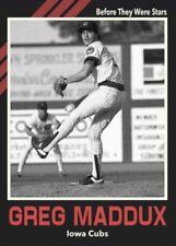 "Custom Card ""Before They Stars"" Greg Maddux Iowa Cubs"