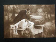 1919 Viljandi Estonia Picture Postcard cover Couple at the park