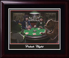 Boston Sports Poker pokah night 16x20 photo framed Red Sox Celtics Patriots