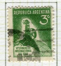 ARGENTINA;   1932 early Refrigerating Congress issue fine used 3c. value