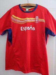 SPAIN ESPAŃA Fifa Oficial Football Shirt World Cup 2014 Camiseta Maglia L