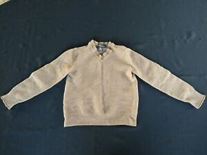 Boys Brown Lambswool Cashmere Sweater Banana Republic Youth Size Small