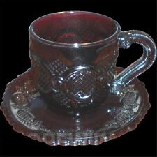 Avon 1876 Cape Cod Ruby Red Cup and Saucer