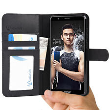 Black Wallet Case Flip Cover for Huawei Honor 7X 7 X Phone by Abacus24-7