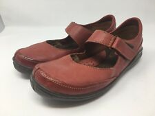 BORN Red Leather Mary Jane Women's Size 9.5 US Flats Strap Walking Shoes