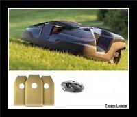 6 Lames Titane + Vis pour Robot Tondeuse Automower Husqvarna / Gardena