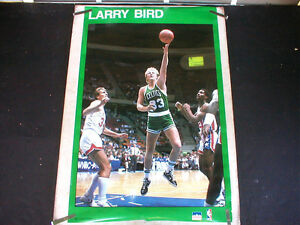 RARE LARRY BIRD CELTICS 1987 VINTAGE ORIGINAL NBA STARLINE POSTER