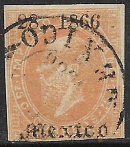 MEXICO -1866, MAXI.- 25c., 28-1866, MEXICO - USED - N.F. $7.50