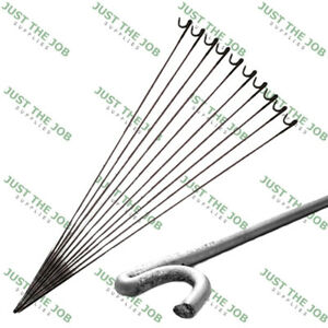 Hardened Smooth Steel Metal Barrier Fencing Stakes 9mm x 1200mm Fence Pins