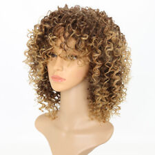 Women Ladies Kinky Curly Wig Afro American Wigs Soft healthy Synthetic Wig HOT .