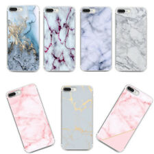 Thin Rubber Soft TPU Marble Pattern Back Case Cover For iPhone 8 7 Huawei P10 LG