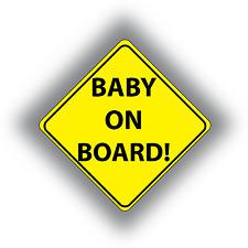 2 x Baby On Board Sticker Vinyl Self-adhesive Car Safety Sticker