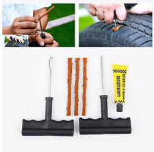 6Pcs Tubeless Flat CAR TIRE REPAIR KIT tool split eye needle rubber cement New