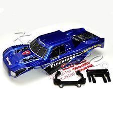 NEW Traxxas Bigfoot Body Blue Firestone w/Mounts 2WD StampedePainted 3658 3619