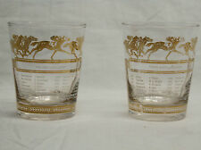 "4.5"" TALL 1953 KENTUCKY DERBY & SANTA ANITA HIGH BALL GLASSES SPORTS KINGS"