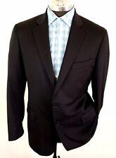 Brooks Brothers Suit Jacket Blazer Madison Estrato 1840 Wool Sz 42L Black Italy