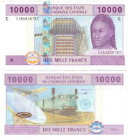 UNC CHAD 10000 Central African Francs (2012) P-610C