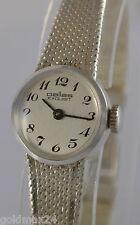 Pallas Exquisit Handaufzug Damenuhr / 835er Silber