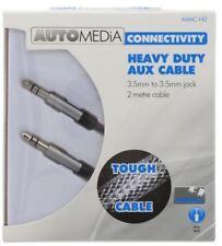 AMACHD - Automedia Heavy Duty Aux Lead 3.5mm 2m Silver
