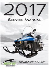 2017 Arctic Cat Bearcat Lynx 2000 3000 7000 XT LT snowmobile service manual CD
