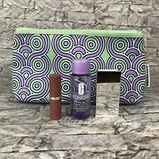 Clinique Jonathan Adler Makeup Set Green Purple Bag Eyeshadow Lipstick Remover