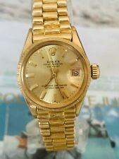 Rolex Datejust Borke Lady Damenuhr 750/18k Gelbgold Automatik