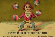 Dr. S Melven Egyptian Secret For The Hair Clown Juggling Balls Circus F85