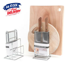 Kitchen Knife Cutting Board Holder Chopping Stand Rack Pan Pot Lid Storage Shelf