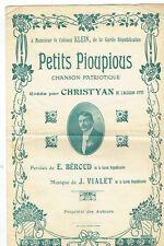 PARTITION PETITS PIOUPIOUS Ch. Patriotique CHRIST'YAN Alcazar Garde Républicaine