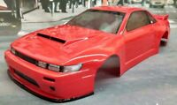 Custom Painted Body Nissan S13 for 1/10 RC Drift Cars Touring HPI 200mm
