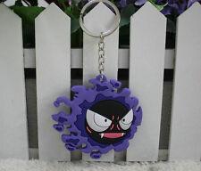 pokemon Gastly silicone keychain cute cartoon comic key chain new