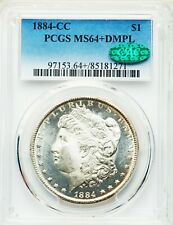 1884-CC PCGS CAC MS64+ Plus DMPL Deep Mirror Prooflike Carson City Silver Dollar