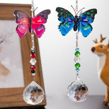 Crystal Ball Butterfly Suncatcher Car Hanging Pendant Xmas Wedding Decors Gifts