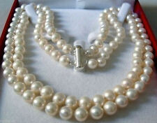 DOUBLE STRAND 8-9 MM AKOYA SALTWATER PEARL NECKLACE
