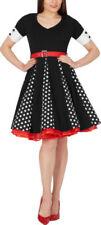 Rockabilly V-Neck Spotted Dresses for Women