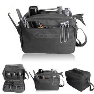 Kassaki Hairdressing Tool Carry Salon Equipment Storage Travel Bag Case Black