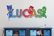 Pj Masks Catboy Gekko Custom Vinyl Lettering Stickers Wall Decals Name Art Ka151