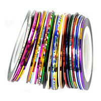 10Pcs Mixed Colours Thin Striping Tape Line Roll Nail Art Decoration Sticker DIY
