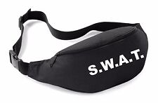 SWAT Belt Bag Black Funny Printed Fancy Dress Costume Outfit Bum Waist Police