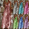 Womens Sleeveless Maxi Swing Fitted CAMI Ladies Sundress Floral Long Slip Dress