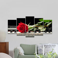 Canvas Print Painting Pic Photo Home Wall Art Decor Red Rose Gift Ready To Hang