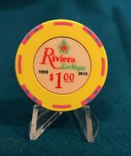 Riviera Hotel Casino $1 Casino Chip - Fantasy Re-Make, Las Vegas, Nevada