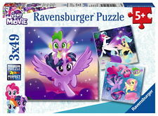 3 X 49 Teile Ravensburger Kinder Puzzle My Little Pony The Movie Abenteuer 08027
