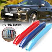Front Kidney Grill Grille Cover Clip StripTrim M-Color 3 Color For BMW X6