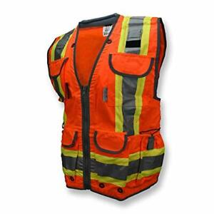 Radians SV55-2ZGD Class 2 Heavy Woven Two Tone Engineer High Visibility Vest