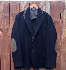 Vintage D.S. Dundee Destino Signum Herringbone Elbow Patch Coat Blazer Jacket