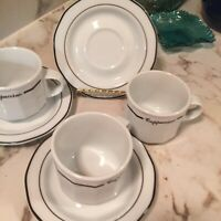 Lubiana Merkury Cappuccino Cups With Matching Saucers Set Of Three